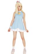 Mario Tennis Rosalina Cosplay Costume Dress with Crown