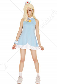 [Free US Economy Shipping] Mario Tennis Rosalina Cosplay Costume Dress with Crown