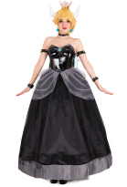 Bowsette Princess Bowser Kuppa Hime Cosplay Dress with Horn and Turtle Shell