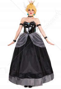 Bowsette Princess Bowser Kuppa Hime Robe Cosplay avec Corne et Tortue