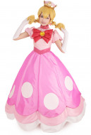 Toadette Princess Peach Peachette Cosplay Costume Dress