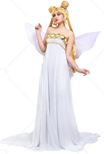 Sailor Moon Neo Queen Serenity Cosplay Dress Costume with Butterfly Bow Wings