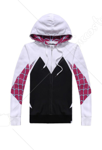Spider-Man: Into the Spider-Verse Gwen Stacy Spider-Gwen Sudadera con capucha Mujer Cosplay