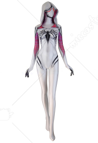 Gwenom Gwen Stacy Gwen Venom Hooded Jumpsuit Bodysuit Cosplay Costume
