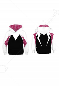 Spider-Man: Into the Spider-Verse Gwen Stacy Spider-Gwen Hoodie Sweatshirt Kids Cosplay Costume