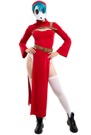 Red Shy Gal Adult Cosplay Dress Costume with Hat