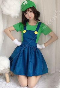 Mario Girls Plumber Clothes Cosplay Costume