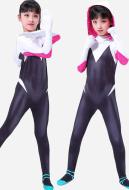 Spider Woman Gwen Stacy Girls Bodysuit Kids Jumpsuit inspired by Spider Gwen Made to Order