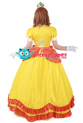 Super Mario BROS Princess Daisy Cosplay Costume