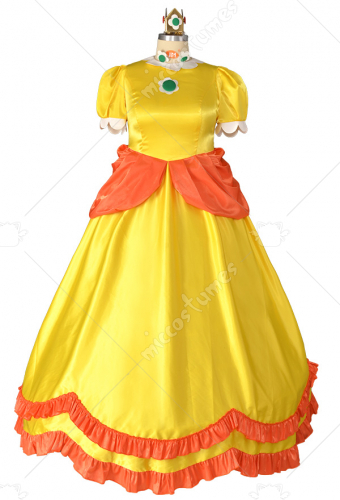Plus Size Princess Daisy Cosplay Costume