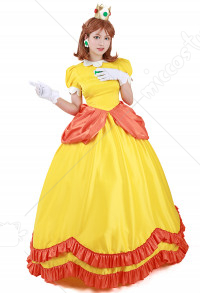 Disfraz Cosplay de Super Mario BROS Princess Daisy