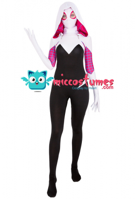 Superhero Jumpsuit Cosplay Costume Inspired by Spider-Woman Gwen Stacy Make to Order