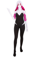 Superheroine Bodysuit Jumpsuit Cosplay Costume Zentai Inspired by Spider-Woman Gwen Stacy Female Superhero Make to Order