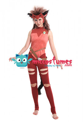 She-Ra and the Princesses of Power Catra Cosplay Costume with Mask and Beast Ears