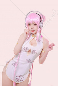 Super Sonico Cheongsam Cosplay Eighth Anniversary Cosplay Suit