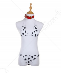 Super Sonico SoniAni Cow Print Bikini Two Piece Swimsuit Cosplay Costume