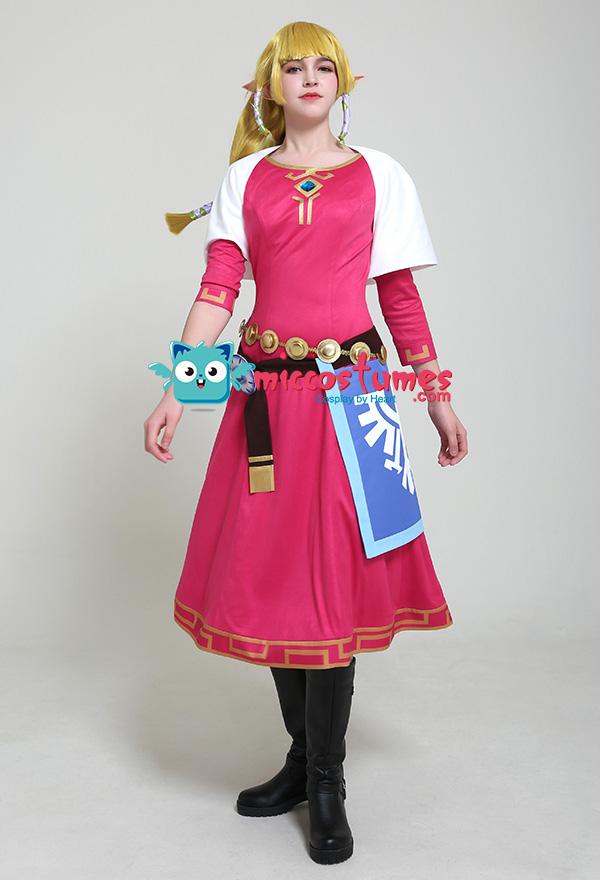 The Legend of Zelda: Skyward Sword Prinzessin Zelda Cosplay Kostüm Kleid