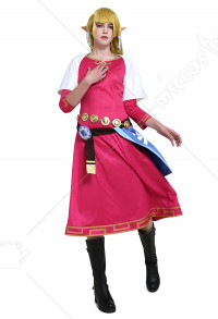 The Legend of Zelda Skyward Sword Princess Zelda Cosplay Costume Dress