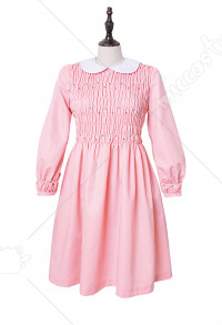 Plus Size Stranger Things Eleven Costume de robe de fille de robe rose