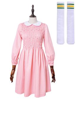 Stranger Things Eleven Pink Dress Girls Dress Costume