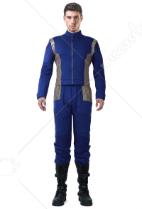 Star Trek Online Escalation Discovery Starfleet Uniform Cosplay Costume for Male