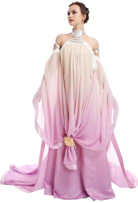 Exclusive Women Queen Padme Naberrie Amidala Gradient Dress Cosplay Costume
