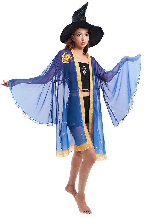 Genshin Impact Mona Haori Cosplay Kostüm Chiffon Jacke Cosplay Kostüm