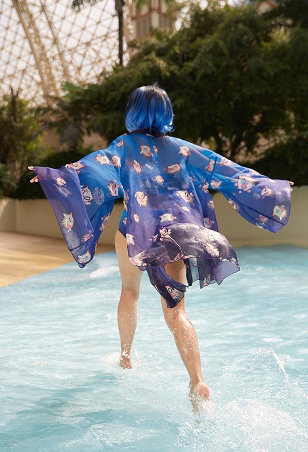 Demon Slayer Kimetsu no Yaiba Inosuke Hashibira Cosplay Kostüm Chiffon Jacke Lange Ärme Cosplay Kostüm