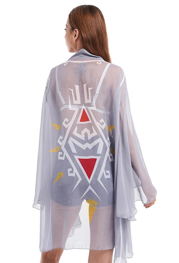 The Legend of Zelda Link Haori Lange Arm Chiffon Jacke Cosplay Badeanzug
