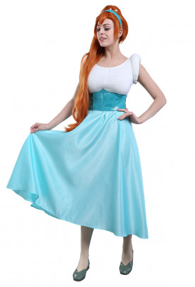 Princess Thumbelina Cosplay Costume Dress with Headband