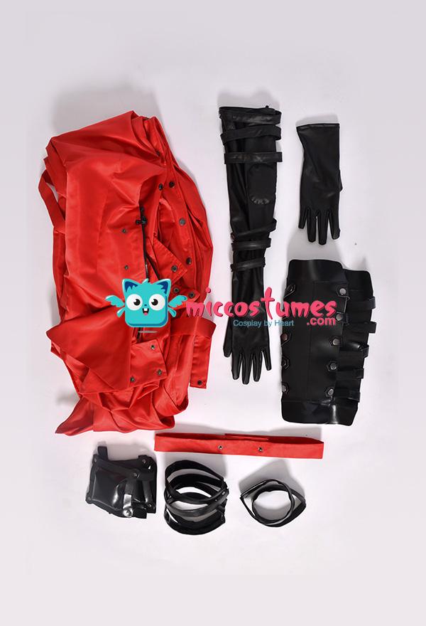 Trigun Vash the Stampede Cosplay Kostüm Rot Mantel Trenchcoat