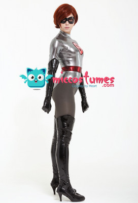 The Incredibles 2 Elastigirl Mrs. Incredible Helen Parr Cosplay Costume Bodysuit with Mask