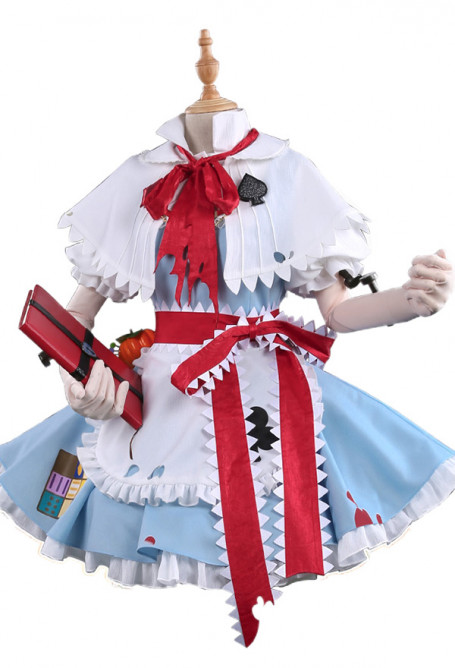 Touhou Project Alice Margatroid Cosplay Costume Cute Maid Lolita Dress for Halloween