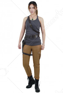 Tomb Raider Lara Croft Cosplay Costume Vest with belts set