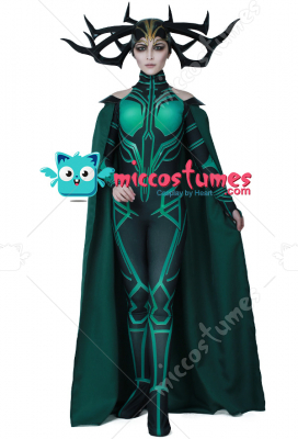 [Free US Economy Shipping] Superhero Cosplay Costume with Cloak Inspired by THOR 3: Ragnarok Hela Make to Order