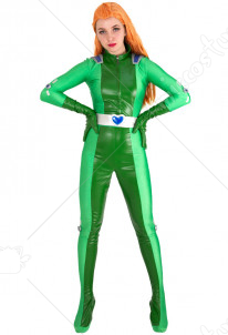 Totally Spies Sam Green Cosplay Costume Bodysuit Jumpsuit