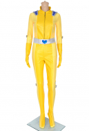Totally Spies Alex Yellow Cosplay Costume Bodysuit Jumpsuit