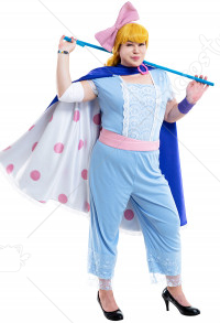 Plus Size Toy Story 4 Bo Peep Curvy Cosplay Costume with Armband and Wristband