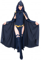 Super Heroine Cosplay Costume Bodysuit Cloak Inspired by Cover Girls Raven Make to Order