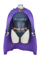 Superheroine Plus Size Halloween Bodysuit Cosplay Costume Cloak Inspired by Raven Make to Order