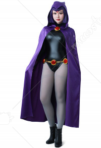 DC Teen Titans Raven Halloween Cosplay Costume