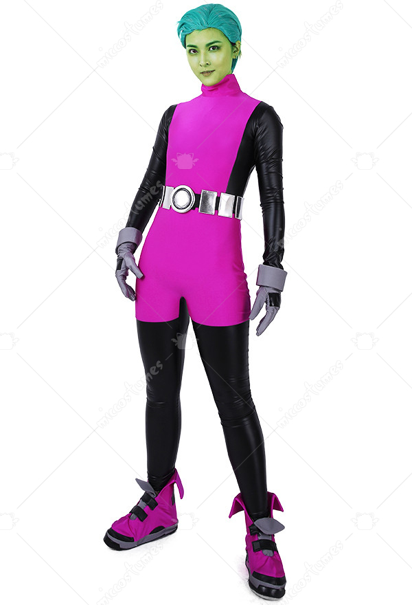 Superhero Cosplay Costume Jumpsuit Inspired By Beast Boy Movie Order To Made-7889