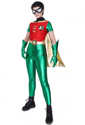 Teen Titans Robin Cosplay Costume Jumpsuit