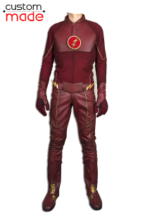 Deluxe Handmade The Flash Cosplay Costumes with Removable Hat and Boots