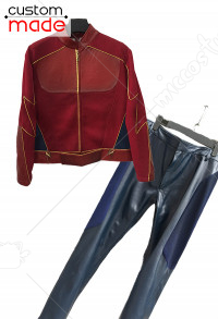 Superhero Deluxe Handmade Cosplay Costume Including Shoes Inspired by the Flash Speedster Jay Garrick