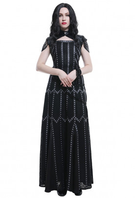 The Witcher Yennefer Cosplay Costume Medieval Retro Elegant Dress Outfits Set