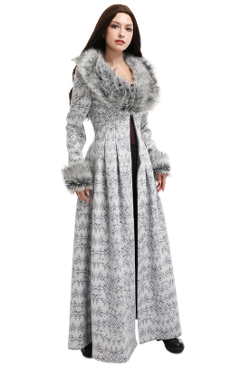 The Witcher TV Series Yennefer Cosplay Costume Retro Medieval Fur Coat