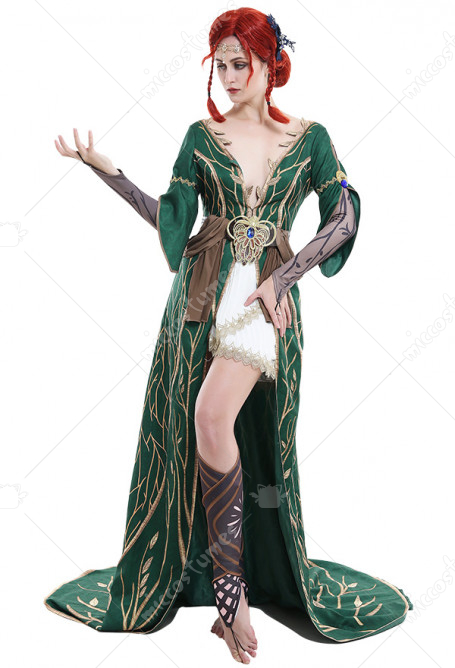 Triss Merigold Dress The Witcher 3 Wild Hunt Cosplay Robe For Sale