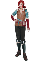 The Witcher 3 Wild Hunt Triss Merigold Cosplay Costume with belts set