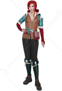 The Witcher 3 Wild Hunt Triss Merigold Cosplay Kostüm mit Gürtel-Set